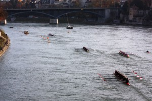 Eights racing the Basel Head, rowing race, head racing,